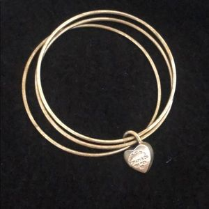 Tiffany and Co. bangle with heart charm
